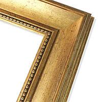 Зеркало в пластиковой рамке из багета 7039-03-G (золотистый)