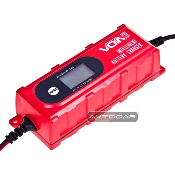 Зарядное устройство VOIN 6-12V / 0.8-4.0A / 1.2-120AHR / LCD / Импульсное