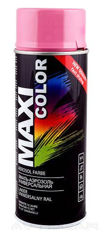 Акриловая краска Maxi Color RAL4003 цвет: лилово-розовый 400мл., фото 2
