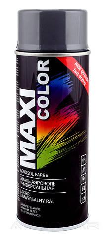 Акриловая краска Maxi Color RAL7016 антрацитово-серый 400мл., фото 2