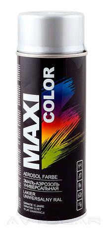 Акриловая краска Maxi Color MX0009 эффект алюминия 400мл., фото 2