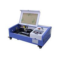 Лазерный станок GLMaster 3020 40 Вт  поле 300х200 мм CO2 лазерный гравер с ЧПУ 2019г + сотовый стол