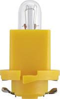 Автолампа Philips BAX 8,5d/2 Yellow 24V 1,2W B8,5d/2