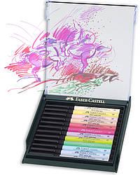 """Набор капиллярных ручек-кисточек Faber Castell PITT® ARTIST PEN  """"BRUSH""""  PASTEL 12 цветов, 267420"""