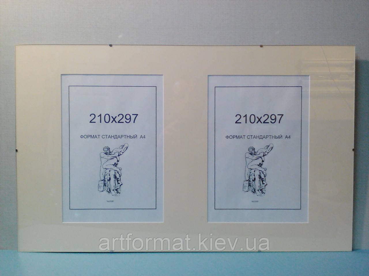Антирама 670х410 с паспарту на 2 окна 210х297.