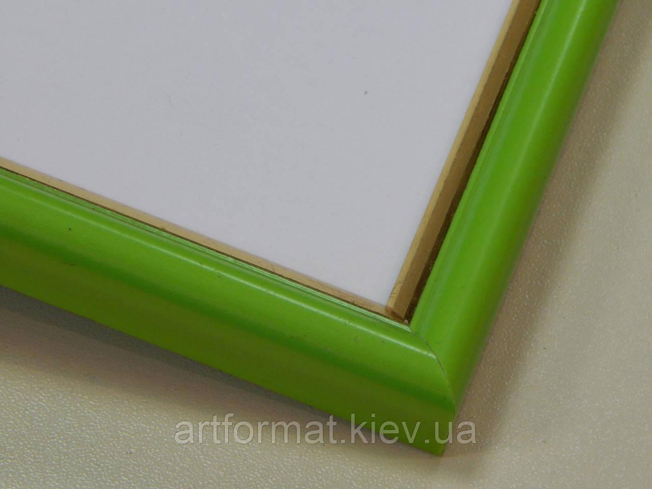 РАМКА А4 (297х210).14 мм.Зеленый с золотой окантовкой.