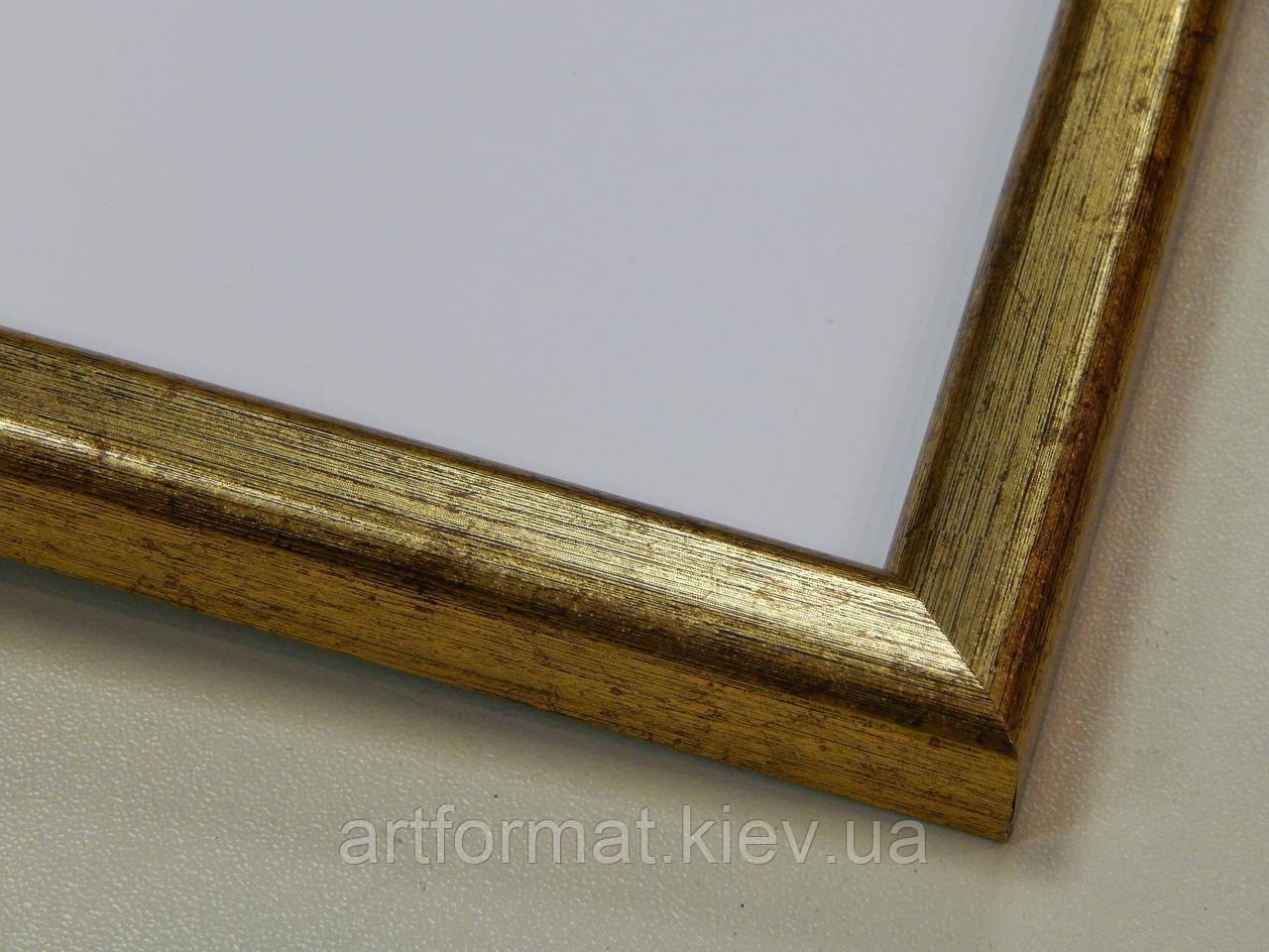 Рамка А4 (297х210).Рамка пластиковая 14 мм.Золото состаренное.