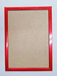 Рамка А4 (297х210).Рамка пластиковая 16 мм.Красный металик., фото 2