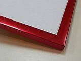 Рамка А4 (297х210).Рамка пластиковая 16 мм.Красный металик., фото 3