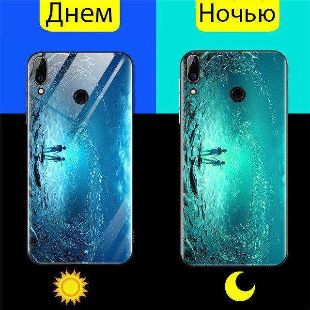 Чехол Glass-case для Huawei P Smart Plus / Nova 3i / INE-LX1 бампер Glow Sea