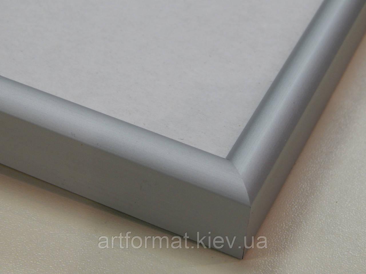 Рамка алюминиевая А2 (420х594).Серебро (металлик).Профиль 11мм.