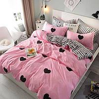 Комплект постельного белья Нежное сердечко из сатина