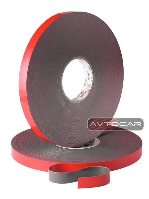 Скотч двухсторонний 3M Automotive Acrylic Foam Tape ширина 9мм ↔  длина 5м