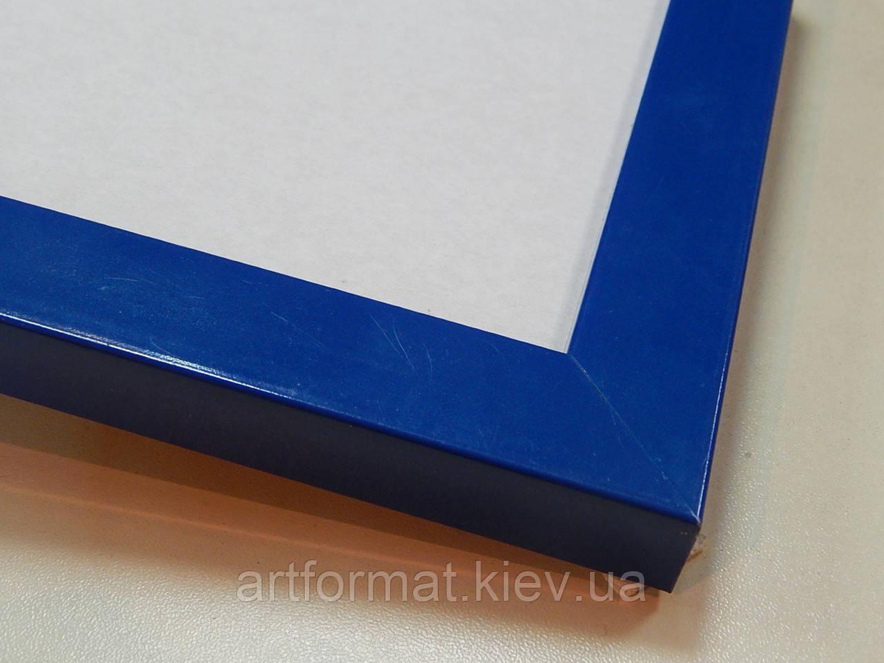 Рамка А2 (420х594)Антибликовое стеклоПрофиль 22 мм.Синий полуматовый
