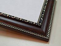 Рамка А3(297х420)Антибликовое стеклоТемное дерево с орнаментом.29 мм.