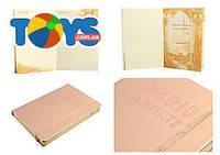Блокнот, на поролоне, на резинке, 144 листа, в клетку А5, 13*19 см, розовое золото, WB-5700