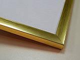 Рамка А3(297х420)Антибликовое стеклоПрофиль 16 мм.Золото., фото 2