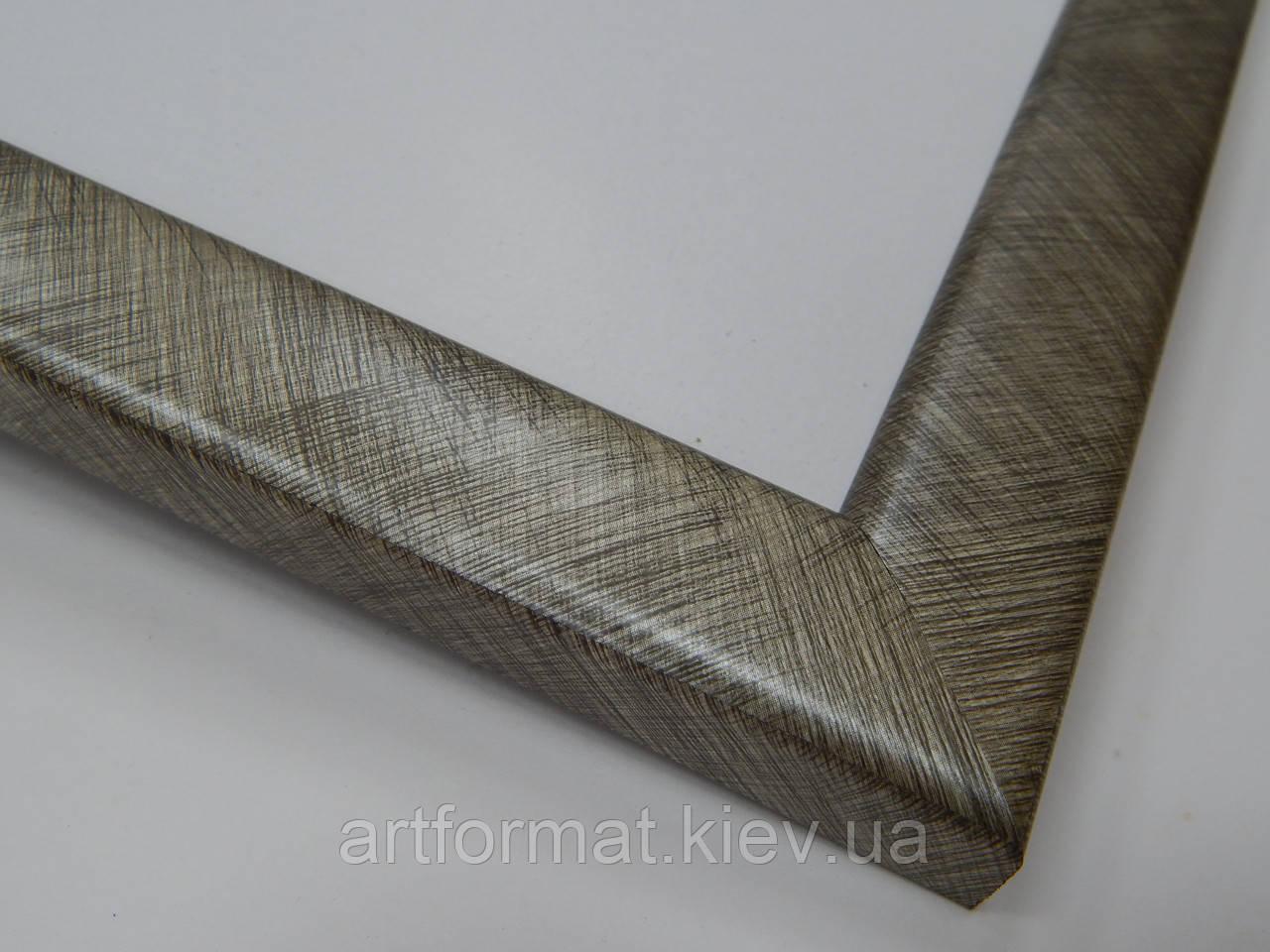 Рамка А2(594х420)24 мм.Серебро в насечку.