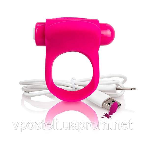 Эрекционное кольцо с вибрацией The Screaming O - Charged You Turn Plus розовое