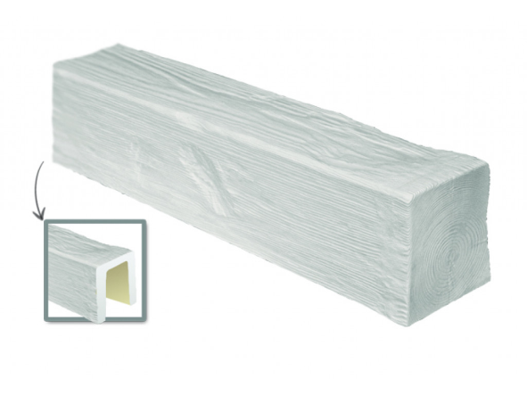 Балка потолочная декоративная  Модерн ED 104 (3м) classic белая 17х19, лепной декор из полиуретана.