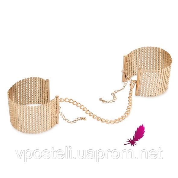 Металеві наручники, Desir Metallique Handcuffs Gold, Bijoux