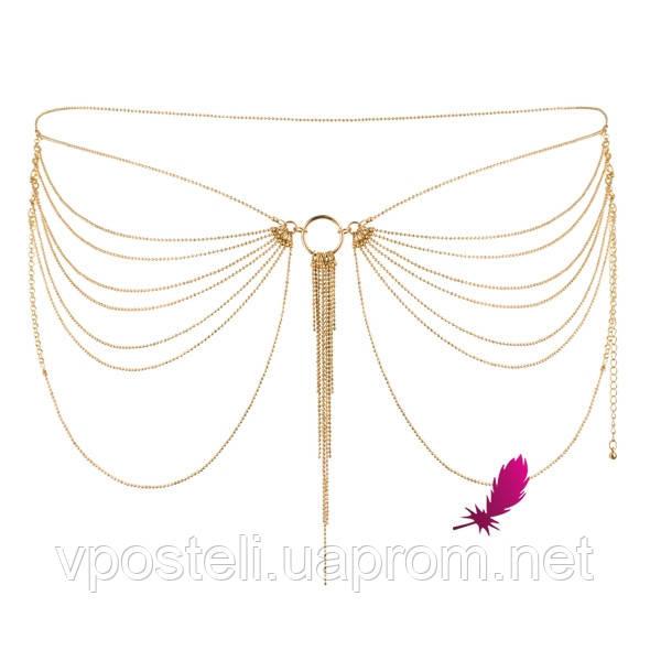 Эротические цепочки на попу Magnifique Gold Bijoux (серебристые)