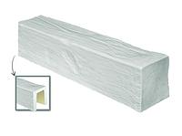Балка потолочная декоративная  Модерн ED 105 (2м) classic белая 19х13, лепной декор из полиуретана.