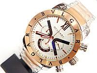 Мужские кварцевые наручные часы Bvlgari Diagono Professional Chronograph на металлическом ремешке, фото 1