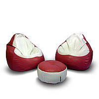 Два кресла из Экокожи + пуфик улик в подарок!