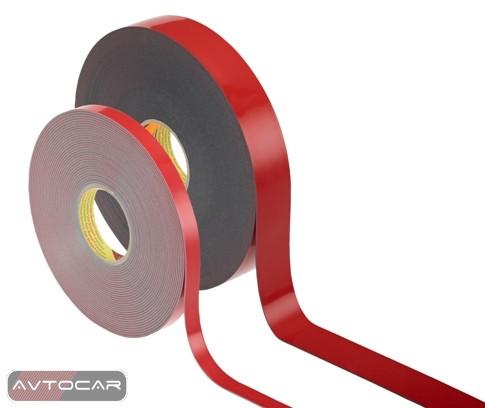 Скотч 3M Automotive Acrylic Foam Tape двухсторонний, ширина 12мм, длина 5м, 6008F