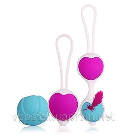 Комплект вагинальных шариков Kegel balls heart