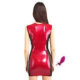 Латексне сукня з прозорими вставками з боків, фото 2