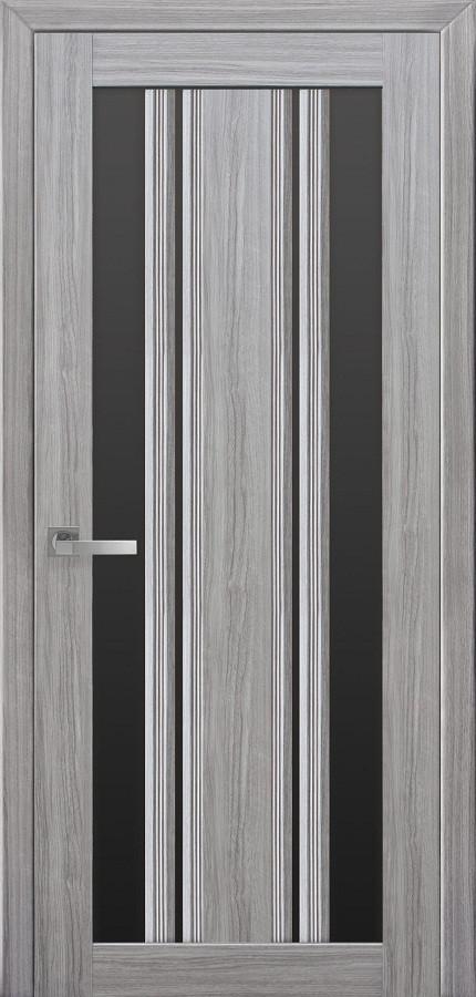 Двери межкомнатные Новый стиль Верона С2 BLK жемчуг серебряный