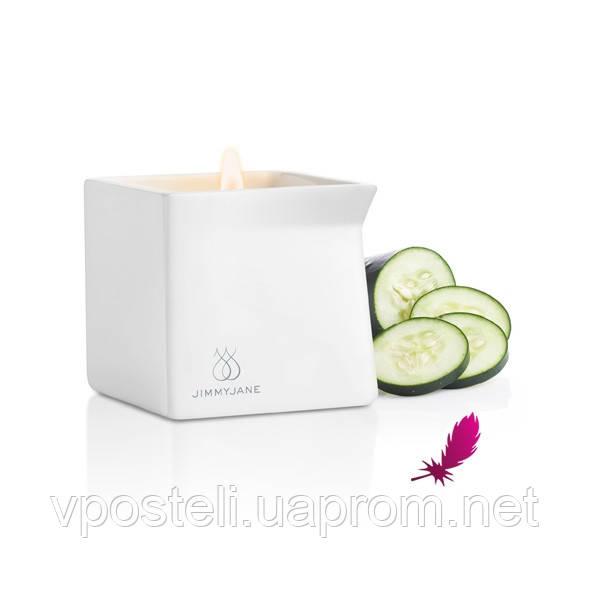 Массажная свеча Jimmyjane с ароматом огурца, 128 мл