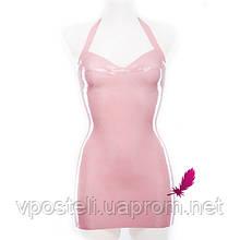 Платье из латекса с чашками для груди