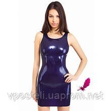 Сексуальное мини-платье из латекса