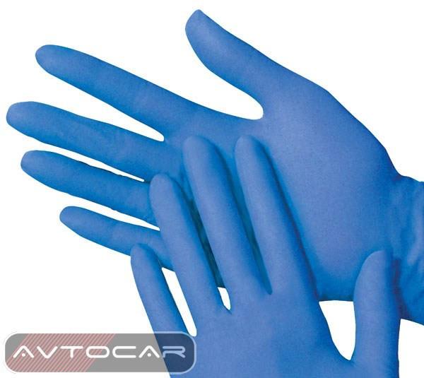 Перчатки нитриловые Cerva / цвет: синий