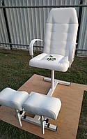 Кресло для педикюра с подставками под ноги, цвет белый