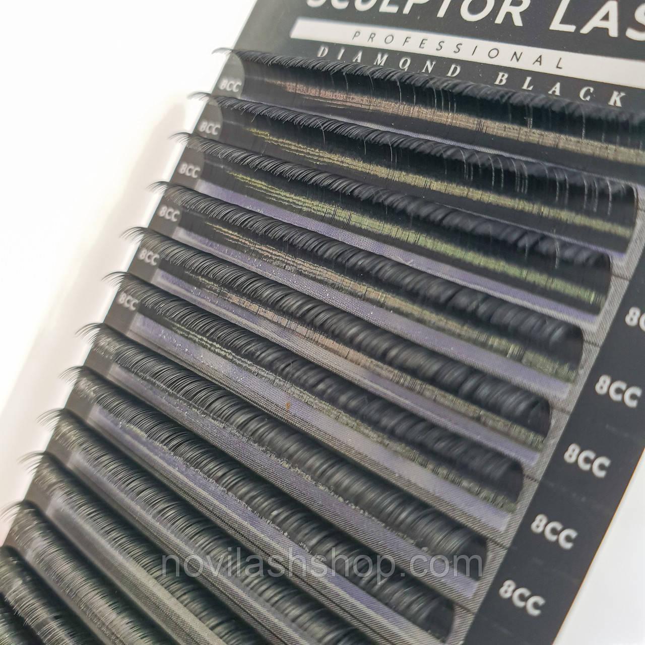 Ресницы Sculptor Lash Diamond Black: С, СС, D; 0.10, 0.07, 0.05; микс и и отд длина