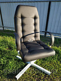 Кресло для парикмахерской серое