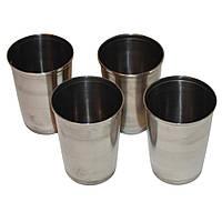 Набор 4 стакана  нержавеющая сталь 200мл + чехол