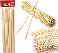 Бамбуковые Палочки 45 см / 4 мм / ~40 шт для шашлыка Деревянные Шпажки шашлыков еды закусок сладкой ваты