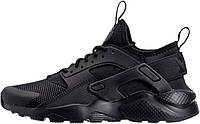 Мужские кроссовки Nike Air Huarache Ultra Black (найк хуарачи ультра, черные)