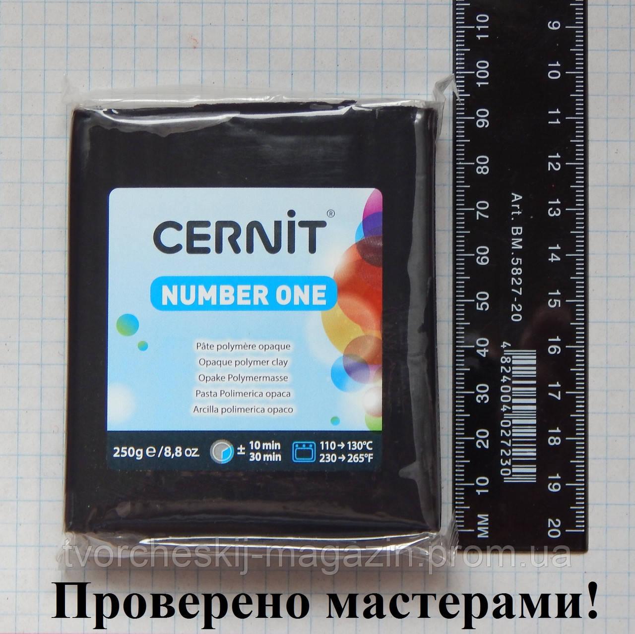 Полимерная глина Цернит (CERNIT) черный №100, 250 г