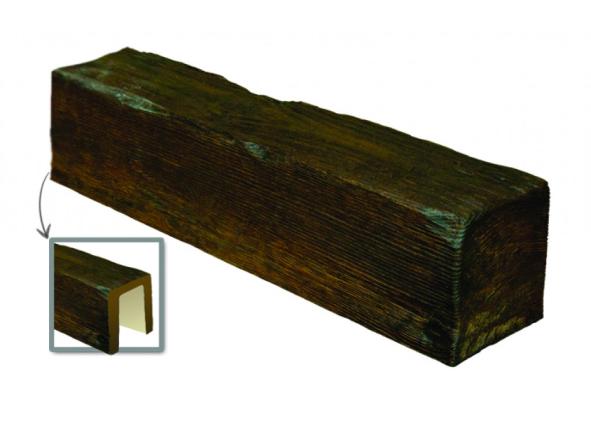 Балка потолочная декоративная  Модерн ED 104 (3м) classic темная 17х19, лепной декор из полиуретана.