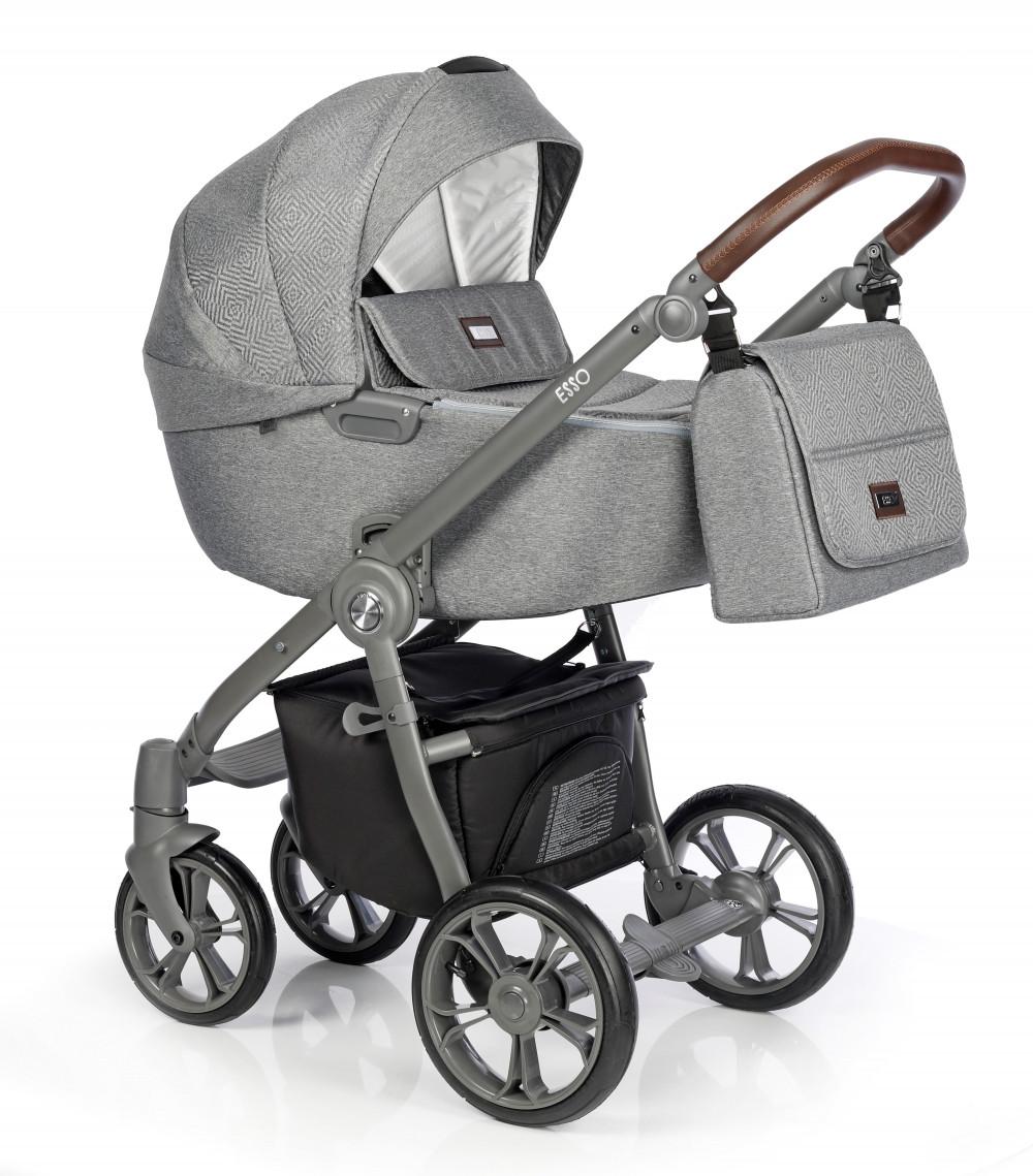 Коляска Roan Esso Total Grey серый