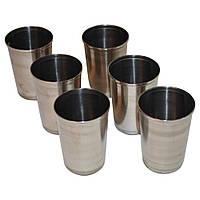 Набор 6 стаканов  нержавеющая сталь 200мл + чехол
