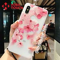 Силіконовий 3D чехол сакура для телефону Xiaomi Redmi Note 5  силиконовый на сяоми ксиоми редми ноте нот 5