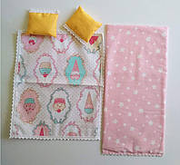 Одеяло и подушка для куклы Барби, Спальня