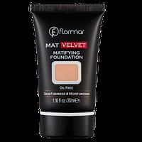 Матуюча тональна основа Mat Velvet V208 Honey beige, Flormar 30 мл